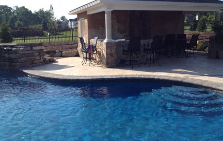 Custom Pool Install with Pavillion