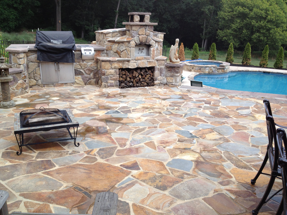 Great Valley Landscape And Pool Outdoor Grill And Fireplace