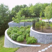 Retaining walls make the best use of sloped spaces