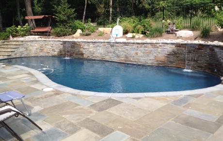 Custom Pool With Patio